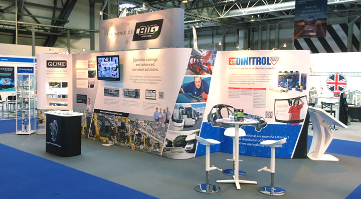 big international automechanika automotive trade exhibition NEC uk vehicle corrosion protection qline dinitrol mpex rust treatments car body repair products paint